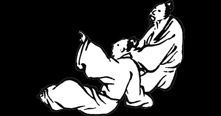 Illustration de deux personnages philosophant